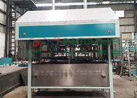 PLC Control Pulp Tray Machine With Double Reciprocate / Working Stations