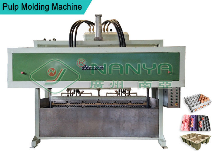 Fully Automatic Paper Egg Carton Machine With Dryer 220V - 440V Voltage